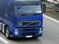 image of a truck on the move