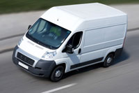 image of a van on the move